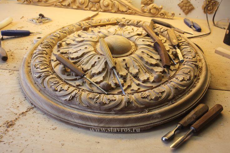 Резная розетка из дуба R-049. #декор #розетка #резьба #дерево #дуб #массив Carved wooden rosette R-049. #decor #wood #wooden #carving #rosette #art #oakwood