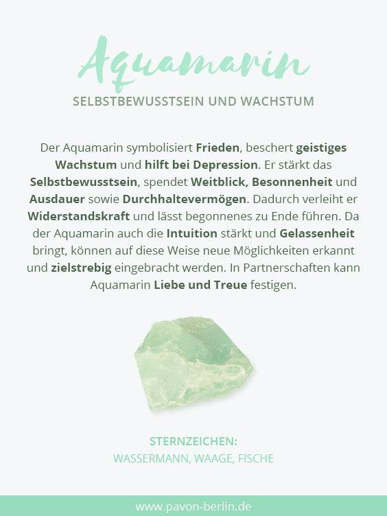 Bedeutung Von Aquamarin Gemstones Gemstonejewelry Edelsteine