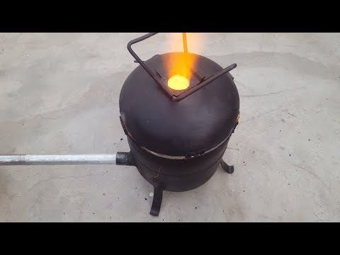 Homemade Propane Foundry Furnace Metal Aluminium Tutorial How To Make Build Part 1 of 4 Aluminum - YouTube