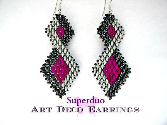Hey, ho trovato questa fantastica inserzione di Etsy su https://www.etsy.com/it/listing/182635995/tutorial-superduo-earrings-peyote-art