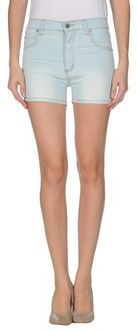 $24, Light Blue Denim Shorts: Cheap Monday Denim Shorts. Sold by yoox.com. Click for more info: http://lookastic.com/women/shop_items/24155/redirect