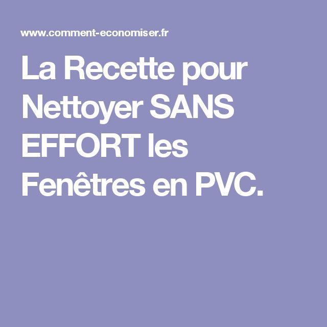 La Recette pour Nettoyer SANS EFFORT les Fenêtres en PVC.