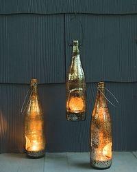 repurposed bottle lanterns