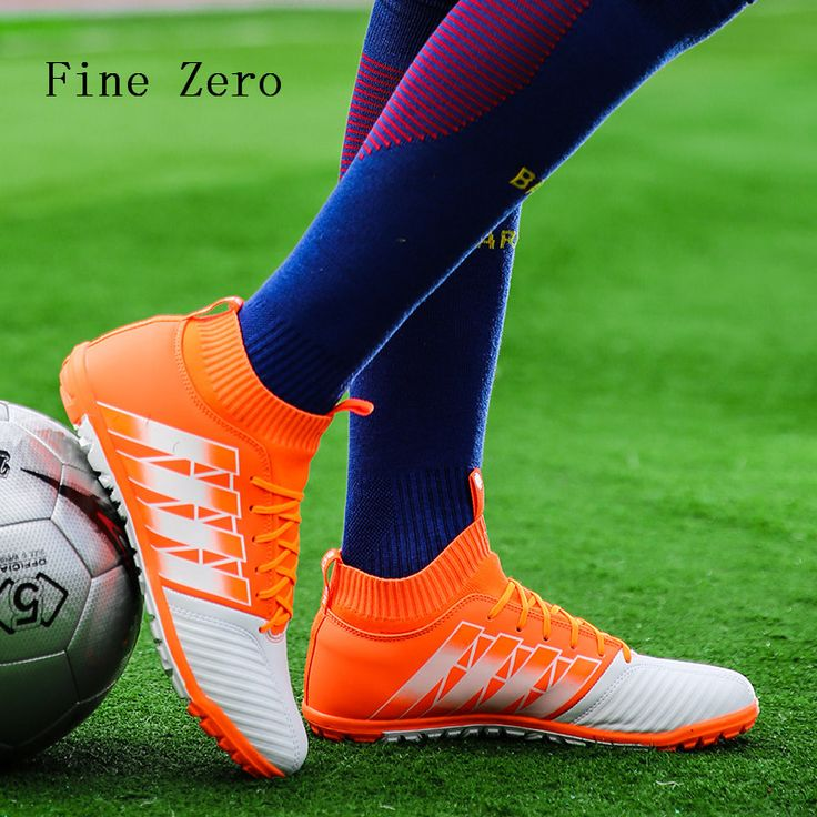 Men football sock boots crampons flying weaving Football Shoes with ankle futsal ball training soccer boots wholesale sport shoe #Affiliate