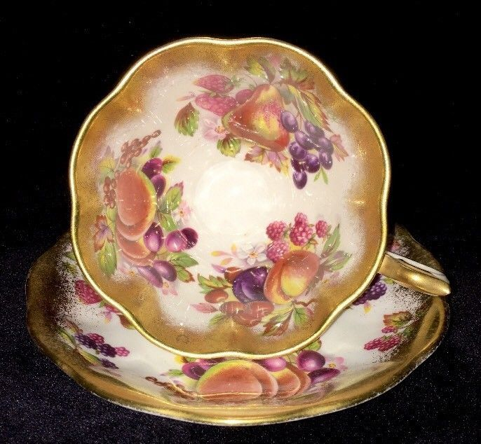 Royal Albert Tea Cup & Saucer Gold Trim Fruit and Berries Pattern | Pottery & Glass, Pottery & China, China & Dinnerware | eBay!