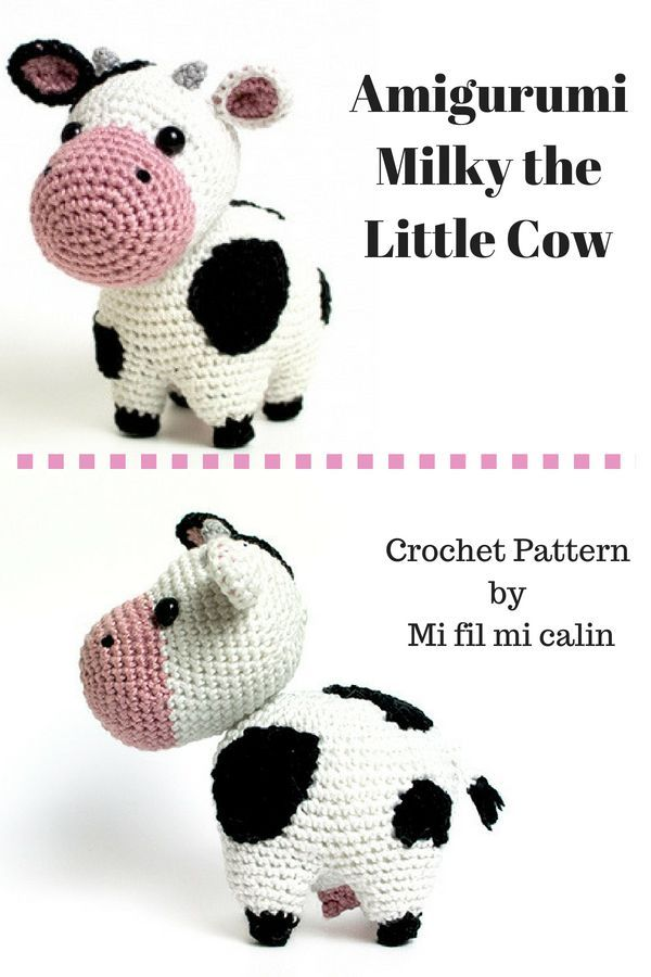 Amigurumi Crochet Pattern - Milky the Little Cow #crochet #amigurumi ...
