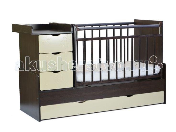 Кроватка-трансформер СКВ Компани СКВ-5 Жираф маятник поперечный  Кроватка-трансформер СКВ Компани СКВ-5 Жираф маятник поперечный  Кроватка этой модели хороша тем, что она имеет множество функций, которых нет в других детских кроватях. Помимо основного спального места, у кроватки имеется специальный пеленальный столик, на который можно посадить малыша и помимо пеленания можно его переодеть или собрать на прогулку. У кроватки есть 4 ящика, в которых вы сможете хранить все необходимые детские…