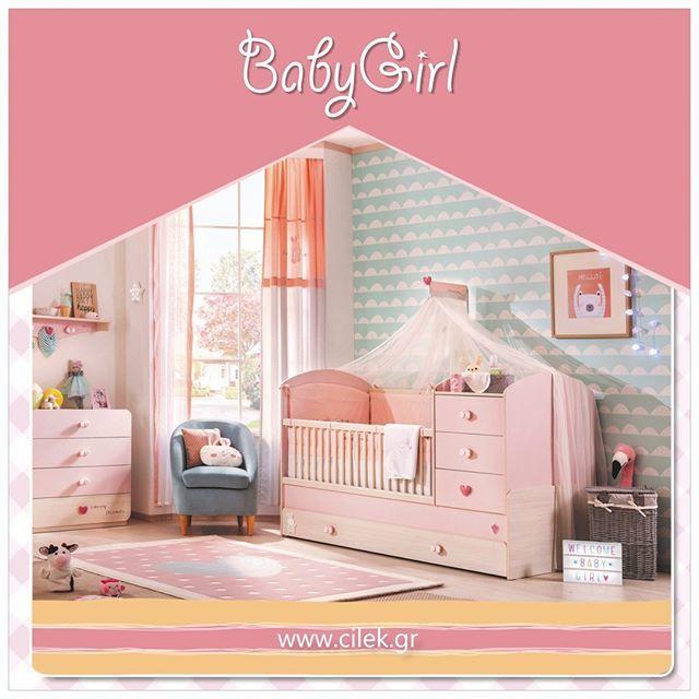 Η  νέα καταπληκτική σειρά βρεφικών επίπλων μόνο για κορίτσια! ΒABY GIRL.  Ο μοναδικός συνδυασμός ροζ  χρώματος με σημύδα θα δώσει στο δωμάτιο μια ήρεμη girly φρεσκάδα.  Η ροζ σειρά επίπλων  από νεογέννητο μέχρι τα πρώτα χρόνια της εφηβείας. Δείτε όλο το δωμάτιο στο www.cilek.gr Επικοινωνήστε μαζί μας στο 2104953698 #cilekgreece