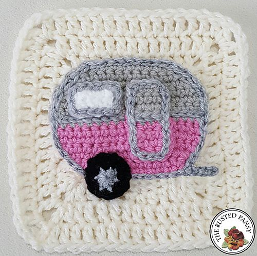 Ravelry: Vintage Camper Applique pattern by The Rusted Pansy