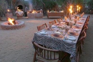 Makalali Game Lodge - [Fireside dinner]  Limpopo Province - Africa