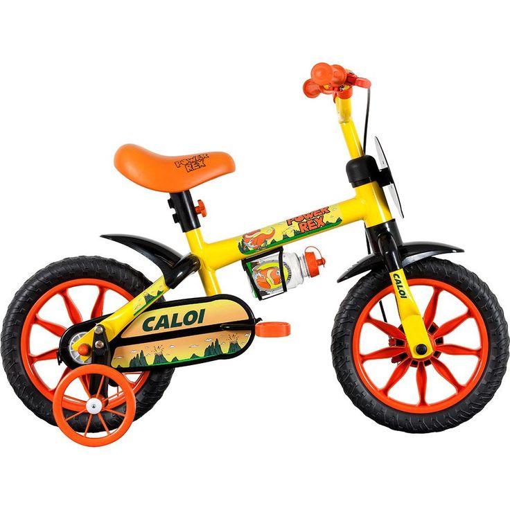 Bicicleta Infantil Aro 12 Power Rex Caloi Amarela -Brinquedos - Bicicleta Aro 12 - Walmart.com