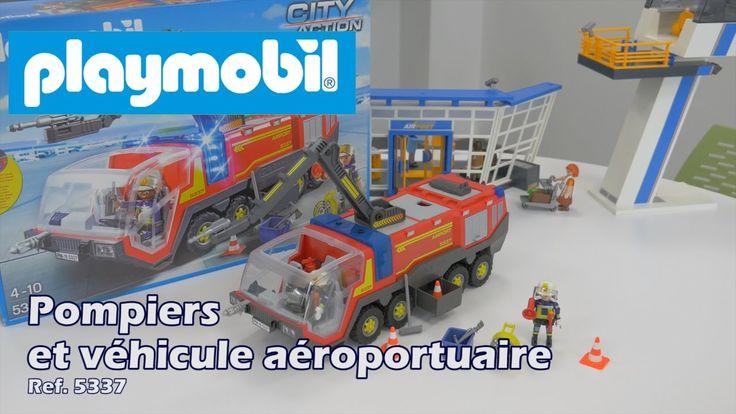 Playmobil 5337 : Pompiers avec véhicule aéroportuaire - City Action (FR)