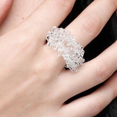 Adorbs glass cluster ring