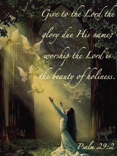 Give our Lord the GLORY DUE...In the beauty of Holiness ~ Psalm 29:2
