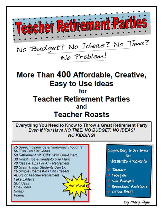Teacher Retirement Party Ideas - More Than 400 Ideas!  #teachers #retirement