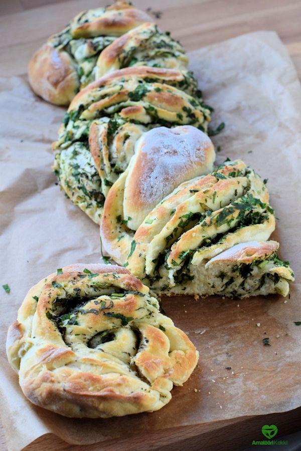 Leivonta ohje yrteillä maustettuun spelttijauhoilla leivottuun leipään, yrtti & speltti-kierreleipä