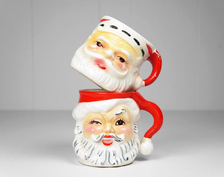 62 Best Vintage Santa Mugs Images On Pinterest
