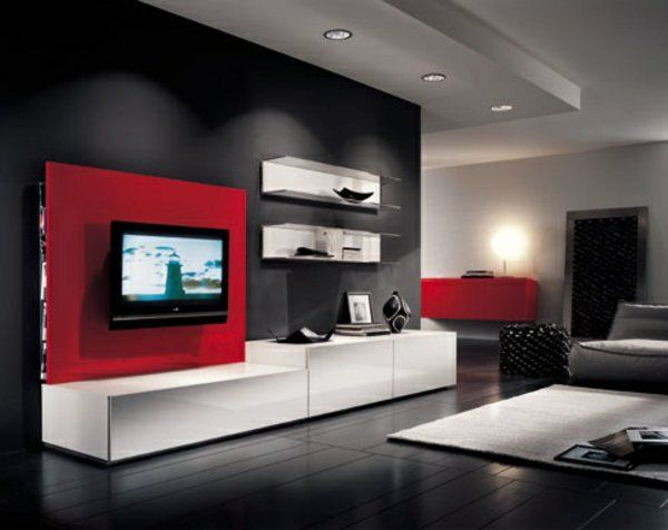24 best mur tv images on pinterest mur tv meuble tv et salons - Deco mur tv ...