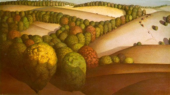 Grant Wood, Near Sundown  1933