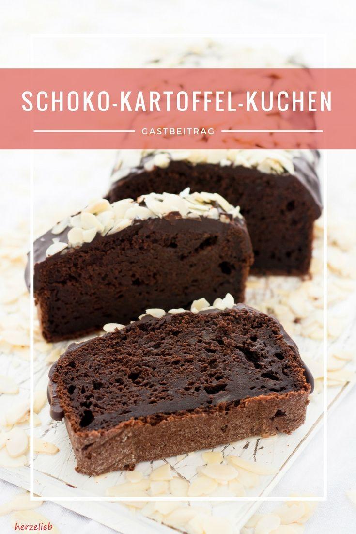 Ein Kuchen aus Kartoffeln und dann noch im Brownie-Style? Den hat herzelieb zu unserem Bloggeburtstag mitgebracht.  #brownie #potato #kartoffel #cake #kuchen #schokolade #chocolate