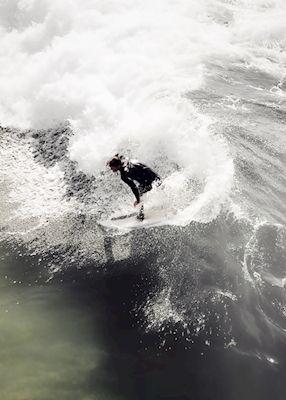 Karl Johansson - Go Hard, ocean green, waves, surfer, photography