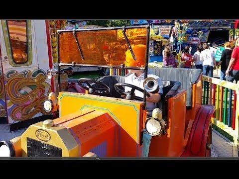 Family Fun Fair, outdoor activity, amusement park, blue orange