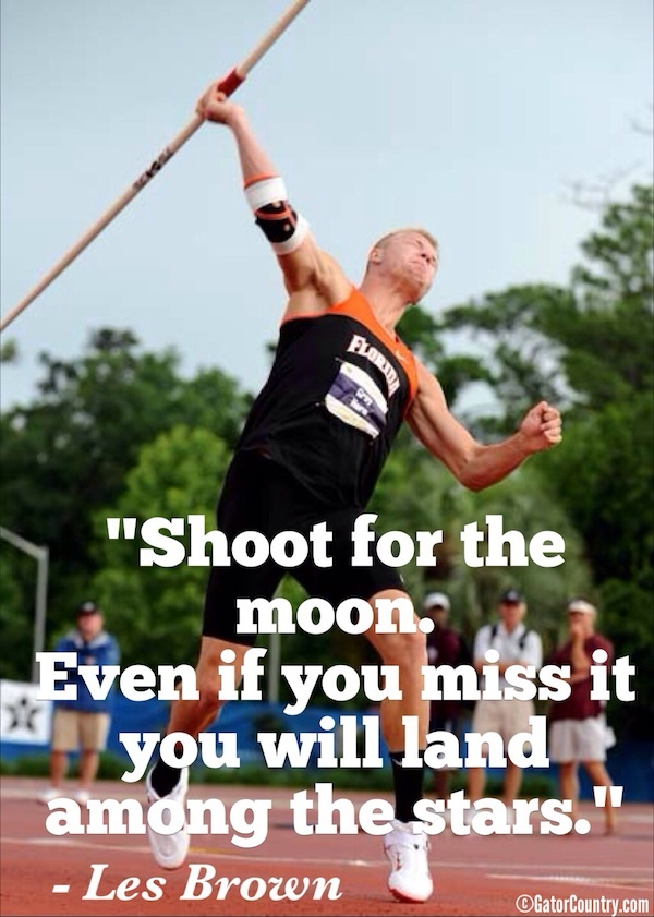 Former Florida Track decathlon athlete Gray Horn during the javelin throw