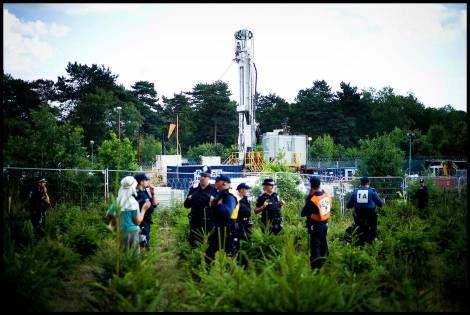 Protester mod skifergasboringer i Nordjylland