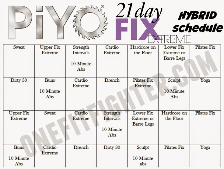 Workout Calendar Ideas : Best day fix schedule ideas on pinterest
