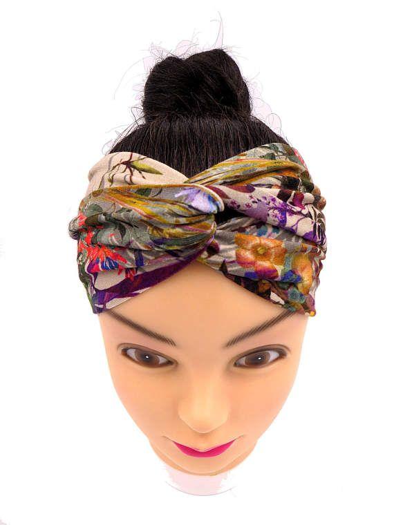 Fascia per capelli Turbante a fiori Fascia per capelli Boho