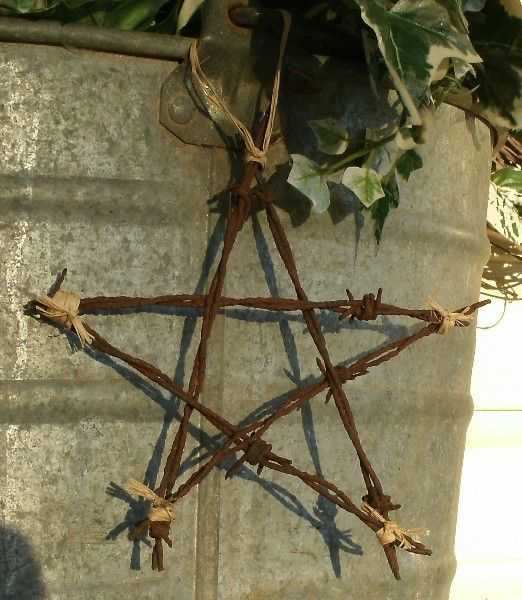 Upcycled Barb Wire Star. $8.00, via Etsy.