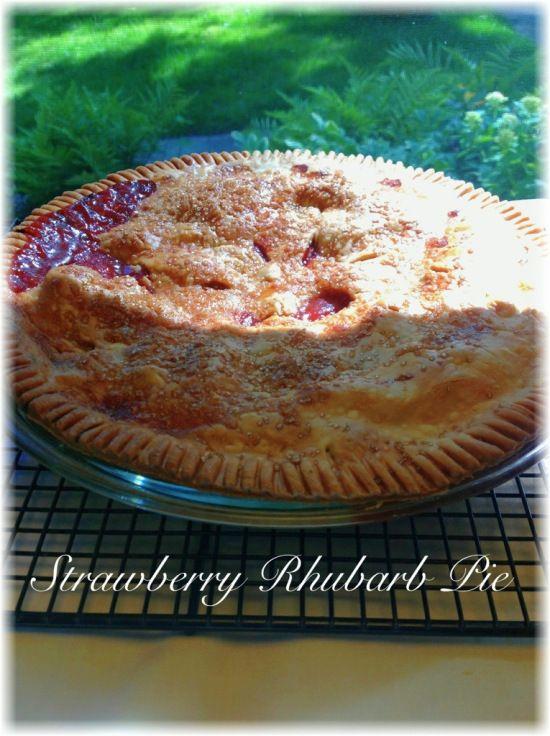Strawberry-rubarb pie...