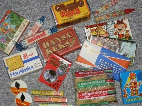 Süßwaren aus der DDR