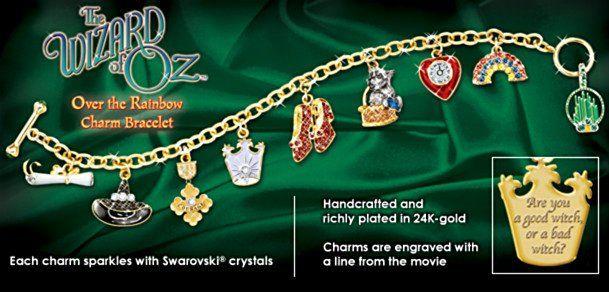 Wizard Of Oz - Over The Rainbow Charm Bracelet