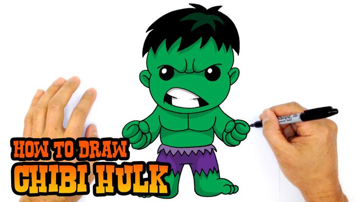 How To Draw Hulk Chibi Step By Step Drawing Lesson