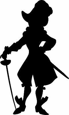 window wall display peter pan captain hook silhouette decal vinyl sticker 003