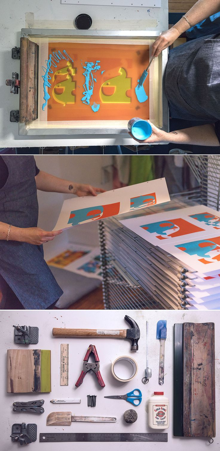 Etsy Quit Your Day Job Interview with the oh-so-talented Strawberry Luna // tools of the screenprinting trade