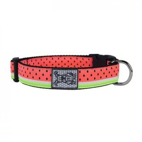 The Watermelon Adjustable Clip Dog Collar By Rc Pet Is A Fully Adjustable Clip Collar That Is Comfortable A Dog Collar Dog Collars Leashes Watermelon Designs