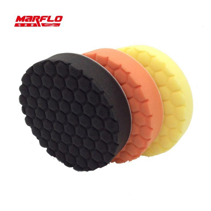 Autolack pflege polieren schwamm pad entfernen moderate sowohl für dreh und da polierer verwenden hohe qaulity marflo durch brilliatech