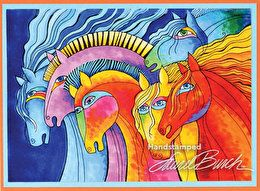 Laurel Burch Wild Horses Cling Rubber Stamp by Stampendous (4011857)