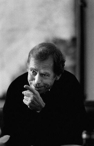 Václav Havel (1936-2011) - Czech playwright, essayist, poet, dissident and politician. Photo Miroslav Zajíc, 1991