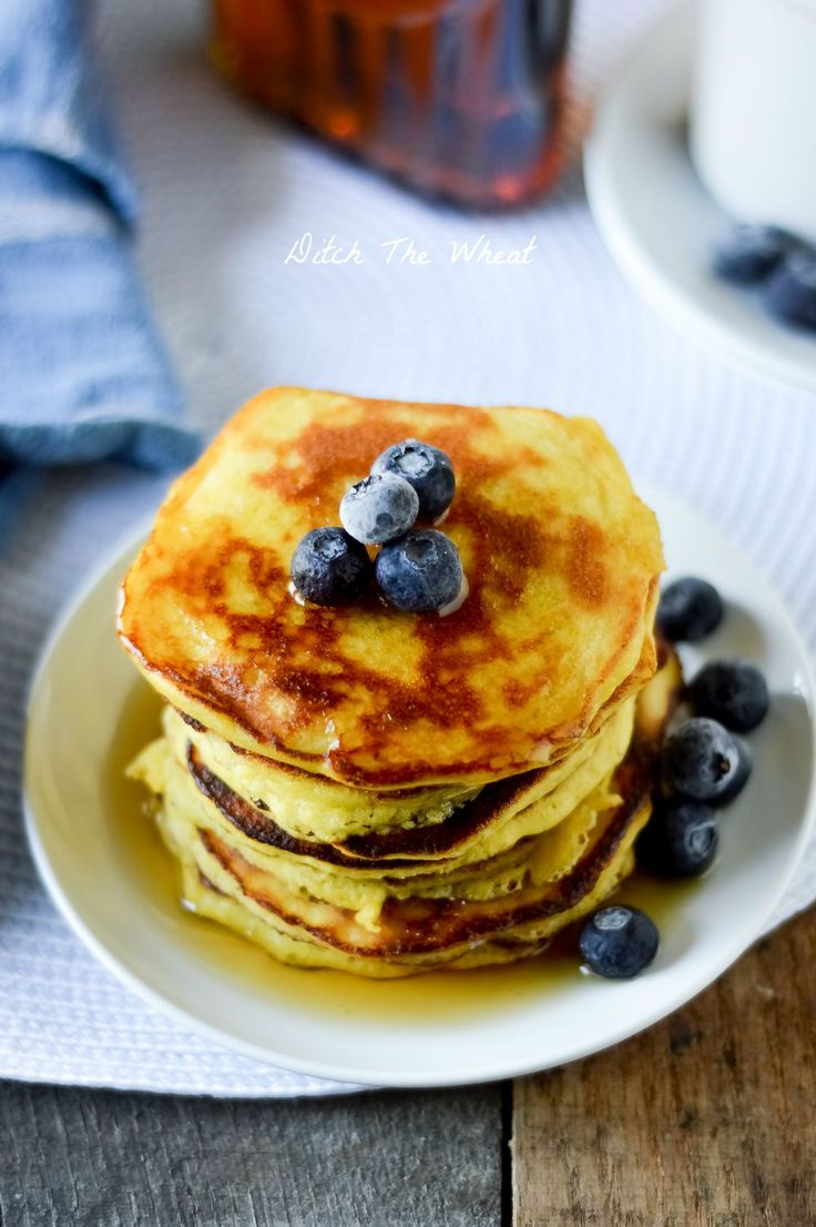 What's for breakfast? Try my delicious and simple Coconut Flour Pancakes that are grain-free and gluten-free. They are a perfect way to start your day!