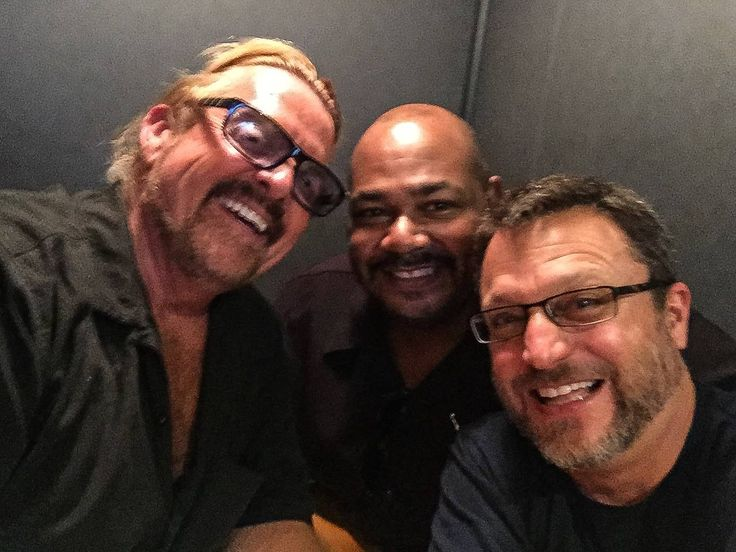 One of the perks of this biz….running into old friends all over town! Got a chance to catch up with my dear buddies Kevin Michael Richardson & Steve Blum at a session earlier today…..LOVE THESE GUYS!!!