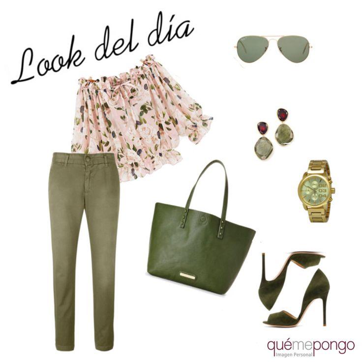 ¿Necesitas ideas para combinar tus pitillos color caqui? #look #qmp #quemepongo #outfit