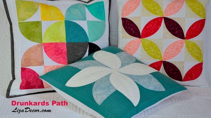#patchwork #drunkardspath #orangepeel #quilt #tutorial #youtube #lizadecor #opilcovacesta #pattern #vzory