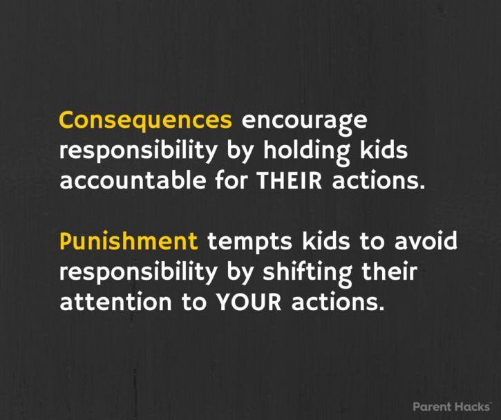 Consequences vs. Punishment: How They're Different and Why It Matters