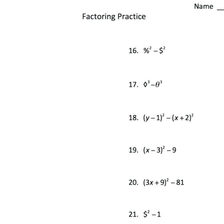 29 Factoring Trinomials Worksheet Algebra 2 With Images