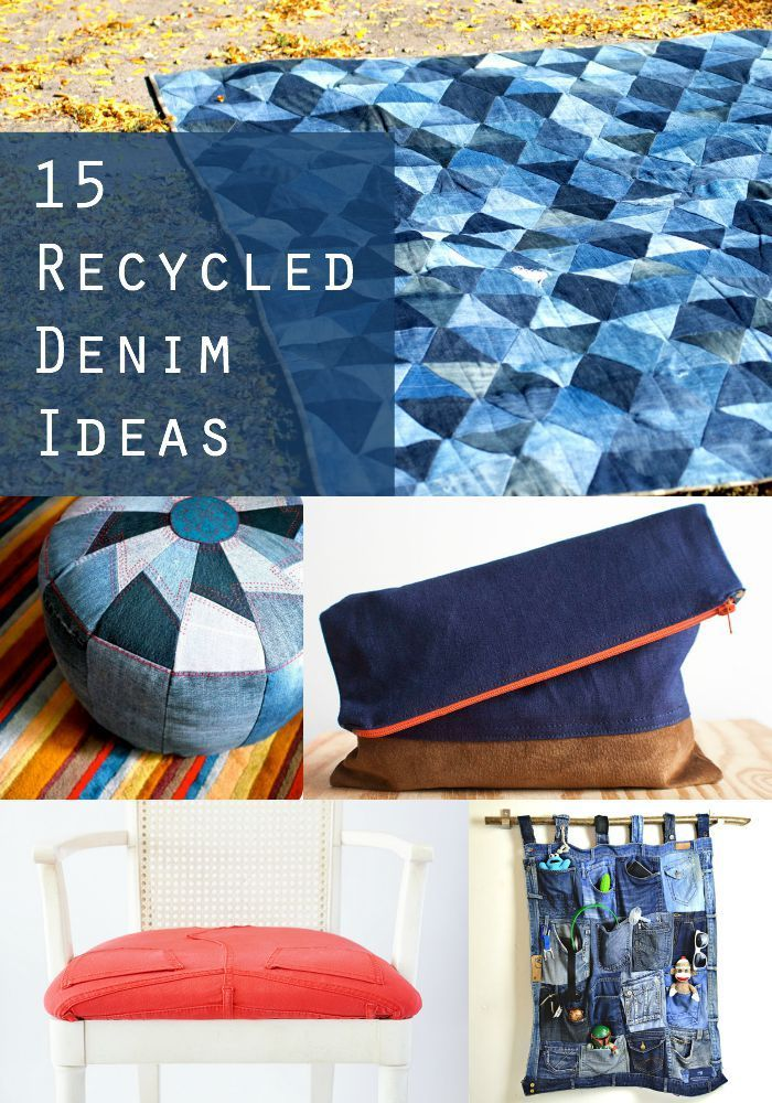 Instead of throwing them in a thrift store pile, give your favorite pair of worn jeans a second life with these recycled denim ideas!