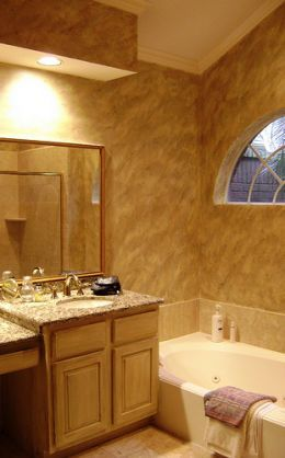Although Most People Think Of Simply Painting Or Wallpapering The Bathroom  Walls, There Are Also A Wide Variety Of Faux Finishes That Work Well.