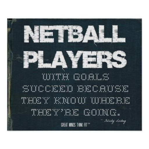 #Netball Players with Goals Succeed in Denim > Poster with motivational #quote